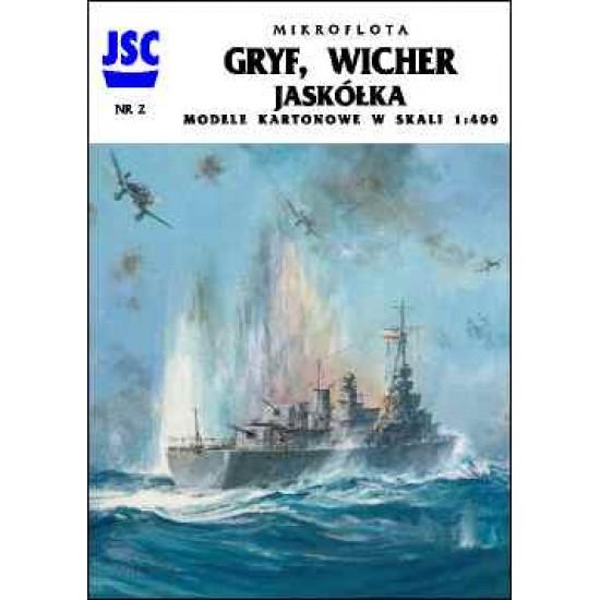 Polskie okręty GRYF, WICHER, JASKÓŁKA (JSC 002)