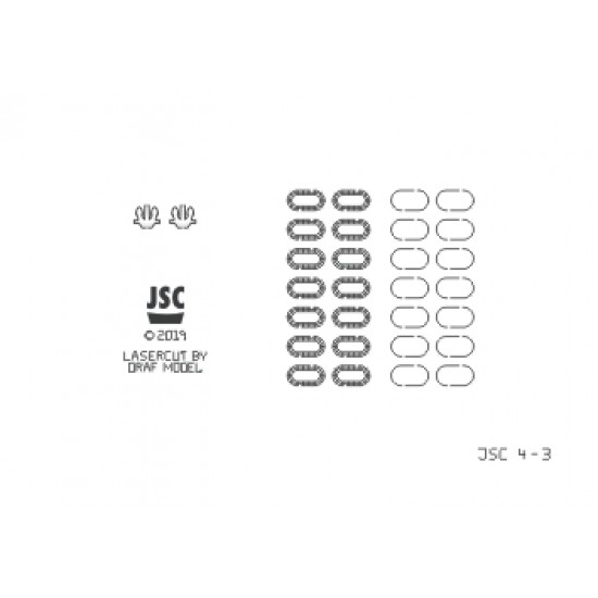 Detale laserowe do modeli CARD, U460, U402 i U664 (JSC 004-L)