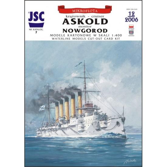 Rosyjski krążownik ASKOLD, monitor NOWGOROD (JSC 007)