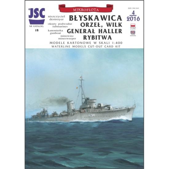 Błyskawica, Orzeł, Wilk, Generał Haller, Rybitwa (JSC 018)