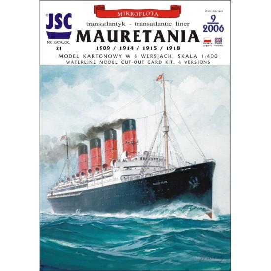 Brytyjski transatlantyk MAURETANIA (4 wersje) (JSC 021)