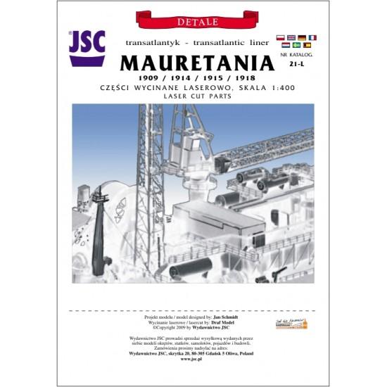 Detale laserowe do statku pasażerskiego MAURETANIA (JSC 021-L)