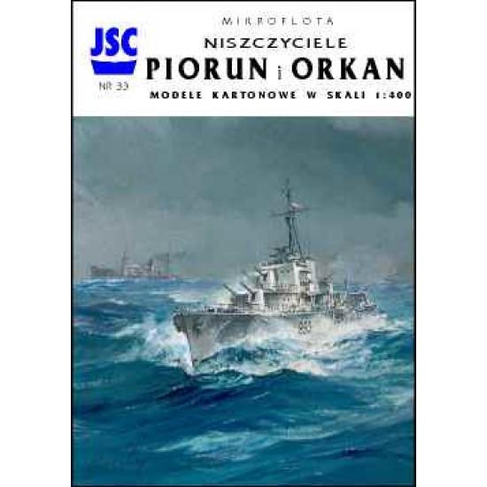 Polskie niszczyciele PIORUN i ORKAN (JSC 033)