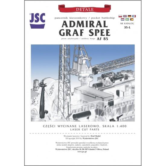 Detale laserowe do  modelu pancernika ADMIRAL GRAF SPEE (JSC 035L)
