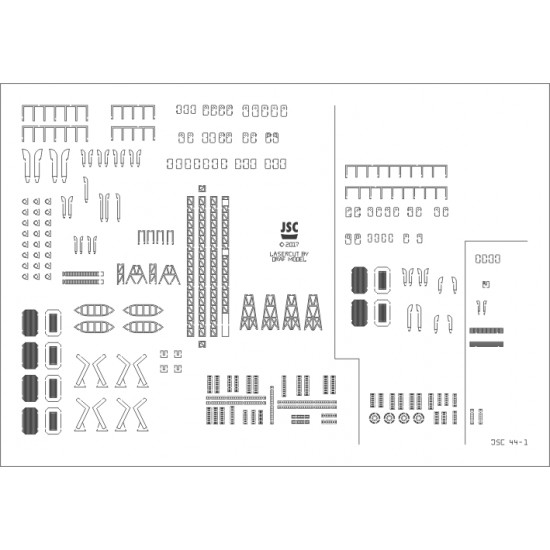 Detale laserowe do modeli TOBRUK, MEDOC, CH 11 (JSC 044L)