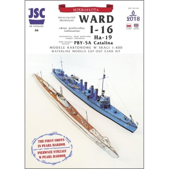 Diorama: niszczyciel WARD, okręt podwodny I-16 (JSC 066)