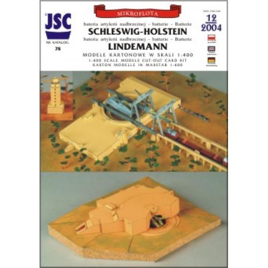 Niemieckie baterie artylerii nadbrzeżnej 406 mm Schleswig-Holstein i Lindemann (JSC 078)