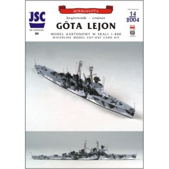 Szwedzki krążownik Göta Lejon (JSC 080)