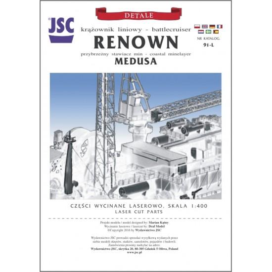 Detale laserowe do brytyjskiego krążownika liniowego RENOWN (JSC 091L)