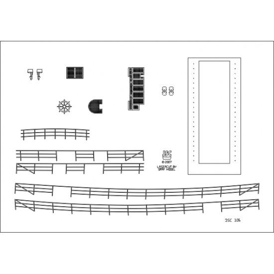 Detale laserowe do polskiej barkentyny POGORIA (JSC 106-L)