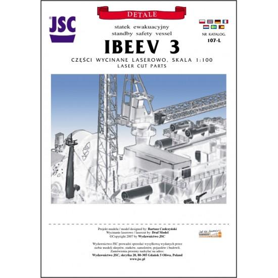 Detale laserowe do kazachskiego statku ewakuacyjnego IBEEV 3 (JSC 107-L)