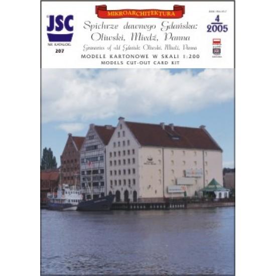 Gdańsk: Spichrze: Oliwski, Miedź, Panna (JSC 207)