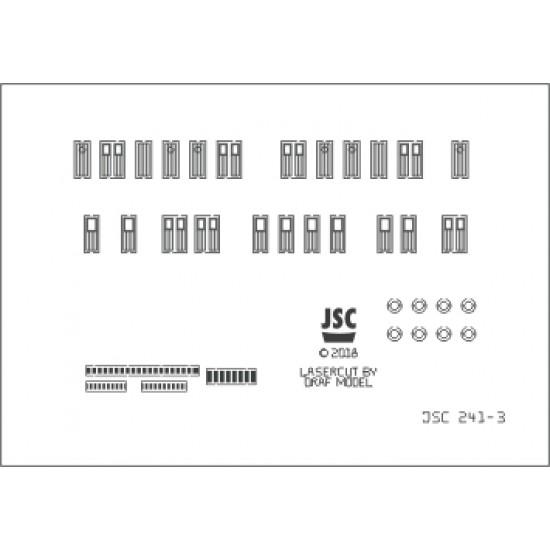 Detale laserowe do  modelu GDAŃSK (JSC 241L)