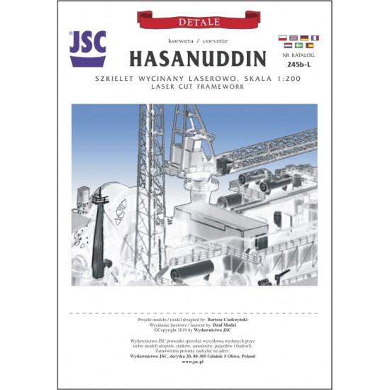 Szkielet wycięty laserem do korwety HASANUDDIN (JSC 245b-L)