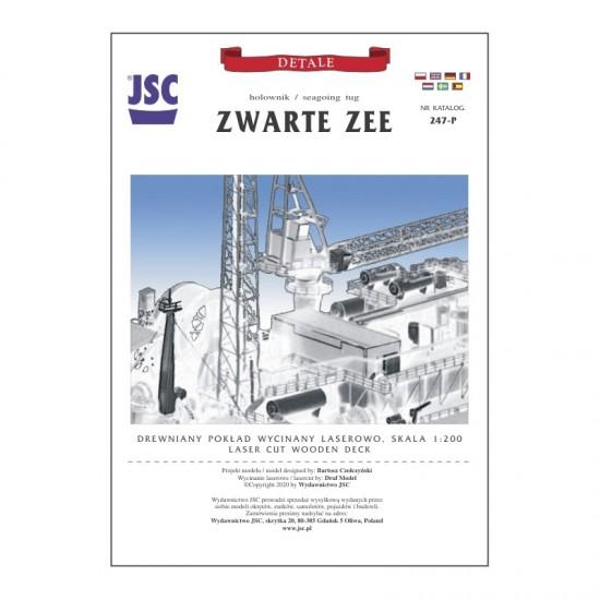 Drewniany pokład wycinany laserowo do holownika Zwarte Zee (JSC 247P)