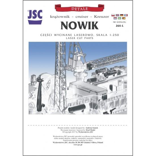 Detale laserowe do rosyjskiego krążownika NOWIK (JSC 264-L)