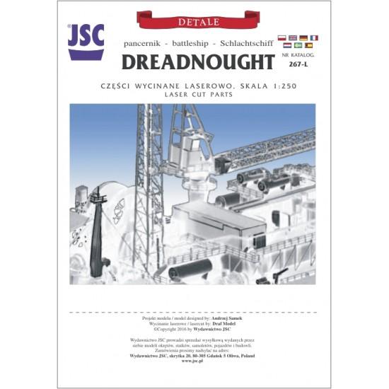 Detale laserowe do pancernika DREADNOUGHT (JSC 267L)