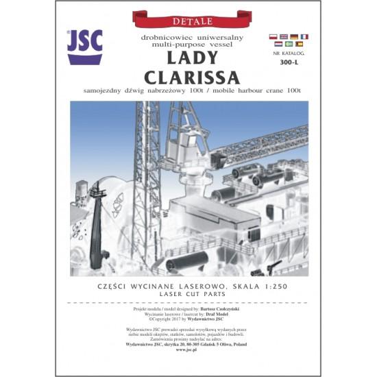 Części wycinane laserowo do modelu LADY CLARISSA (JSC 300-L)