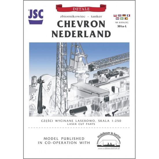 Części wycinane laserowo do modelu CHEVRON NEDERLAND (JSC 301aL)
