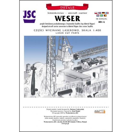 detale laserowe do lotniskowca WESER (JSC 401-L)