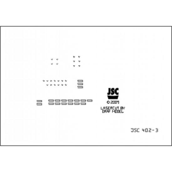 Detale laserowe do krążownika pomocniczego ATLANTIS (JSC 402-L)