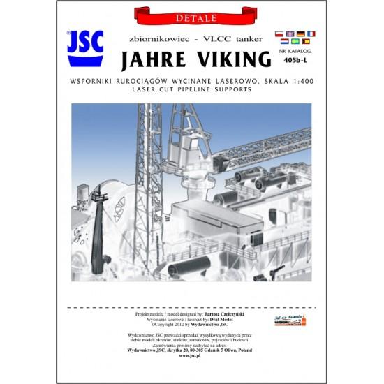 Wsporniki rurociągów wycięte laserowo do zbiornikowca JAHRE VIKING (JSC 405b-L)