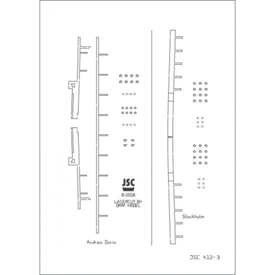 Detale laserowe do modeli ANDREA DORIA & STOCKHOLM (JSC 412L)