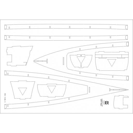 Elementy szkieletu do statku QUEEN ELIZABETH (JSC 413b-L)