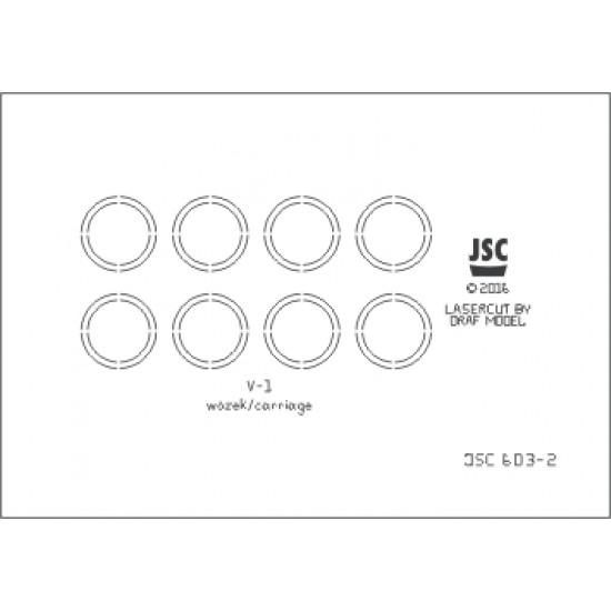 Szkielet wycięty laserem do modeli broni odwetowych V1 i V2 (JSC 603L)