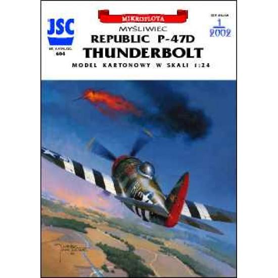 Amerykański myśliwiec P-47D THUNDERBOLT (pilot Francis Gabreski) (JSC 604)