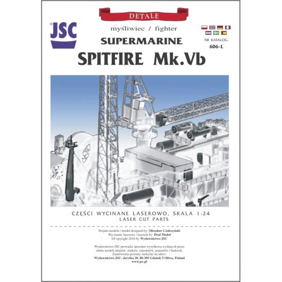 Szkielet wycięty laserem do modelu Supermarine Spitfire Mk. Vb (JSC 606L)