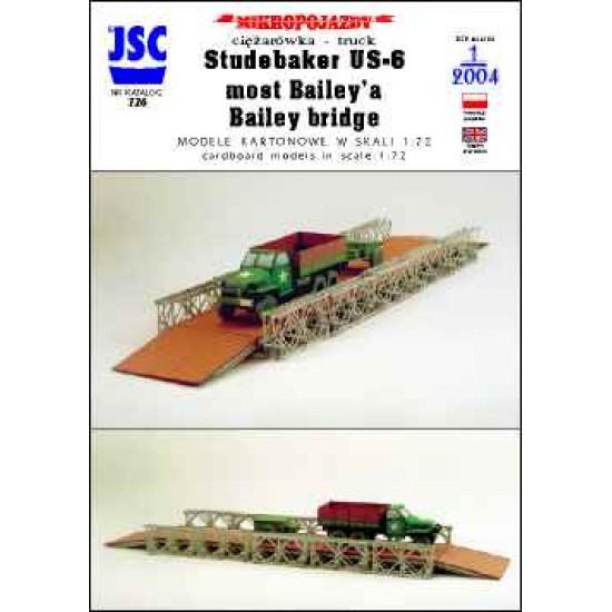 Amerykańska ciężarówka STUDEBAKER US-6, most Baileya (JSC 726)