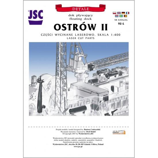 Detale laserowe do polskiego doku pływającego OSTRÓW II (JSC 092-L)