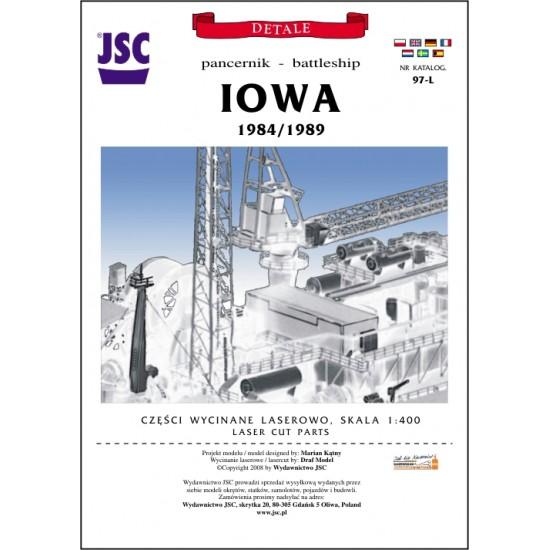Detale laserowe do pancernika IOWA (JSC 097-L)