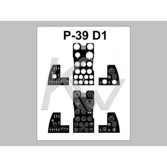 P-39 D1 Fotorealistyczna tablica przyrządów