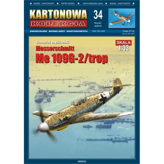 Messerschmitt Me 109G-2 / trop - Kartonowa Kolekcja 34