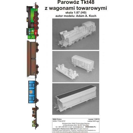 Parowóz Tkt48 z wagonami towarowymi (WAK Extra 1/2013)